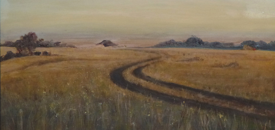 """Road to Nowhere (11X14 Oil on Board: For Sale)."""