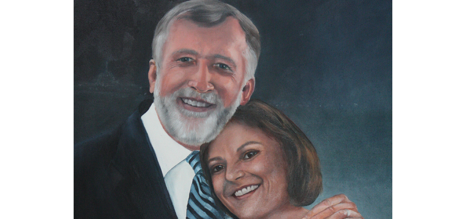"""Mike & Thalia (22X30 Oil on Canvas: Commissioned Work: Sold)."""